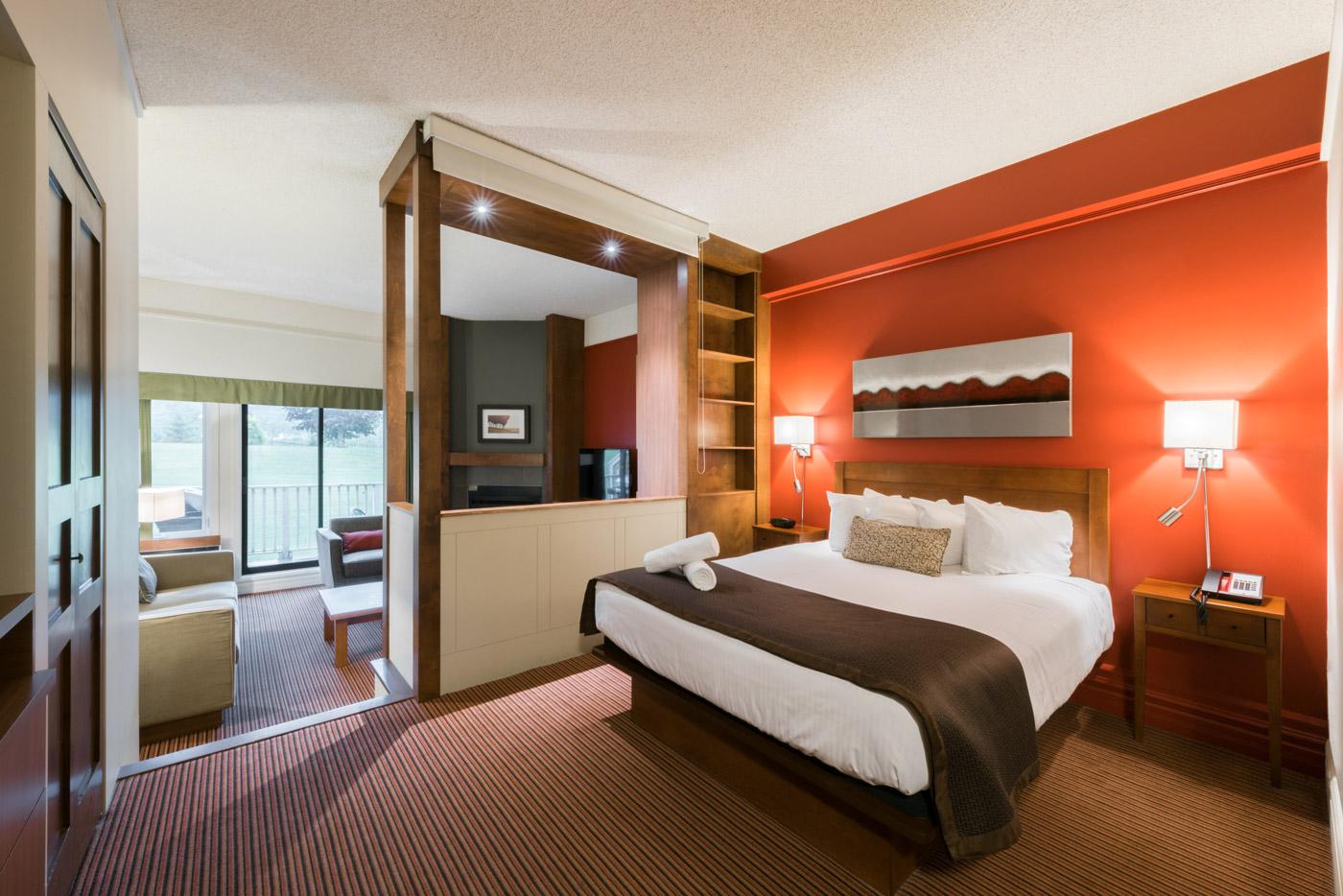 Hotel Avec Foyer : Suites supérieures à magog estrie hôtel estrimont